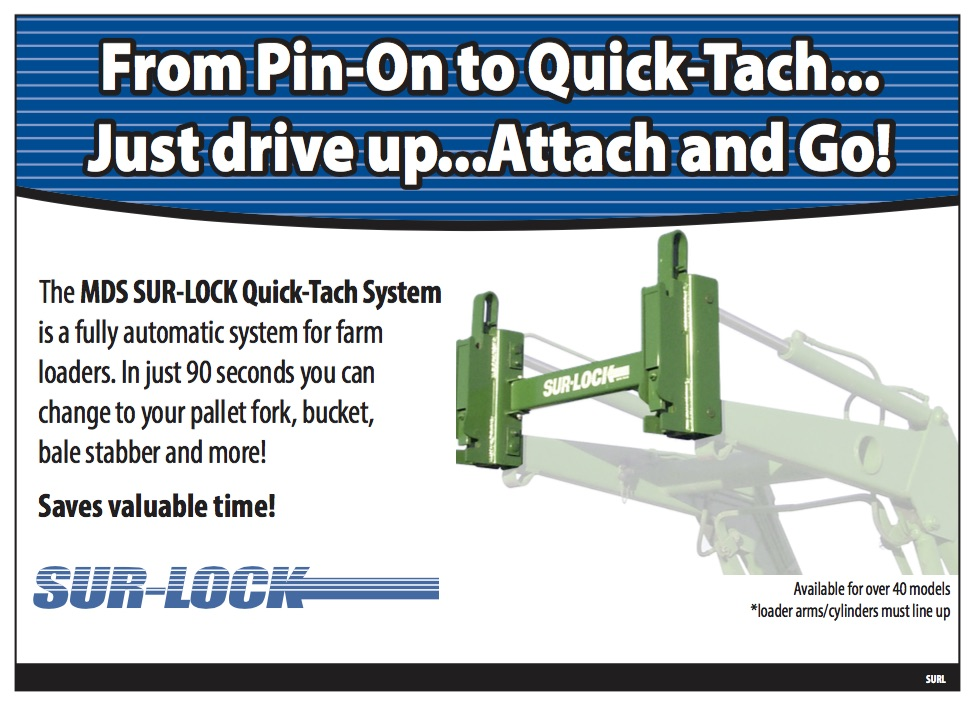 Sur-Lock Quick-Tach System for Loader & Tractors - MDS