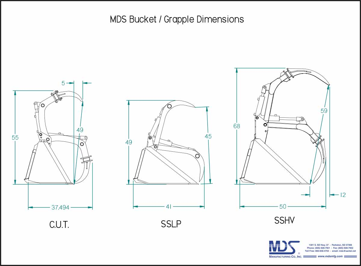 MDS Grapple Opening Profiles - MDS Manufacturing