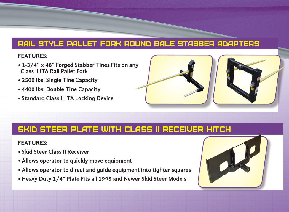 Skid Steer Plate with Class II Receiver Hitch - MDS