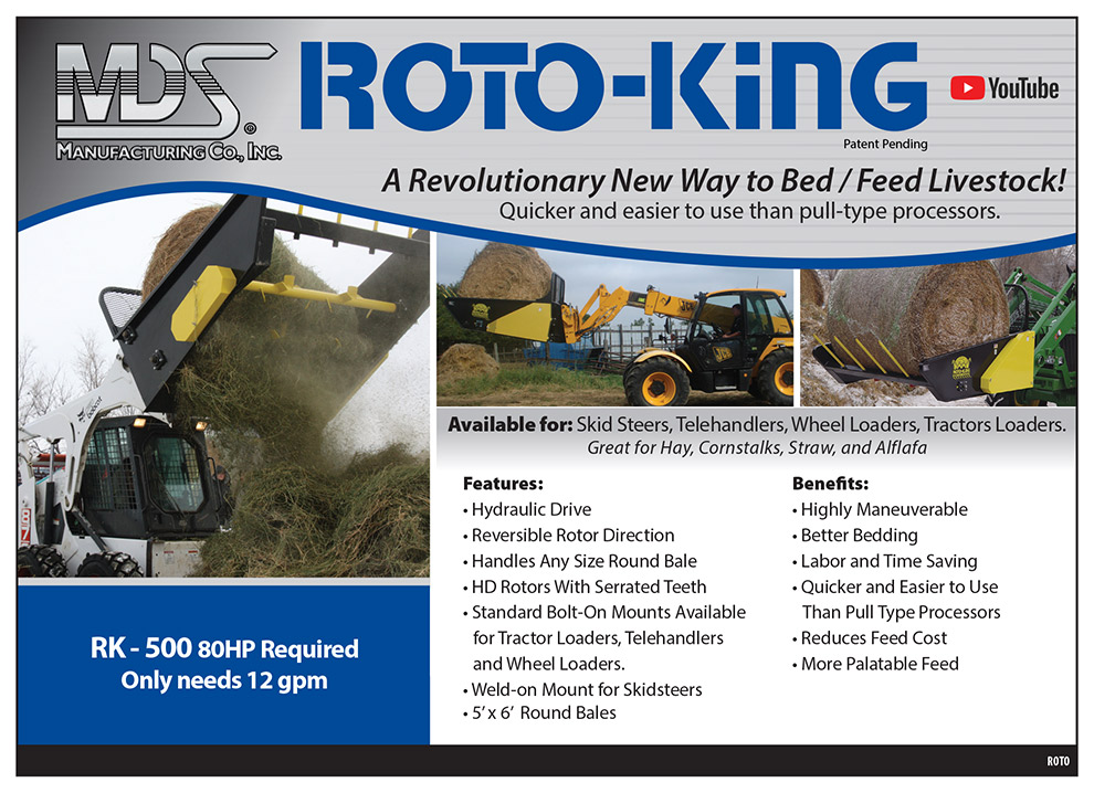 Roto-King Bale Processor for Skid Steers and Tractor Loaders