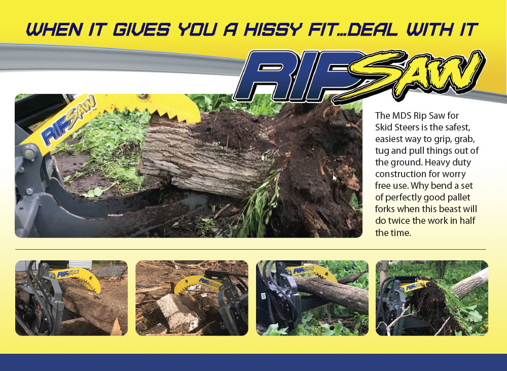 Skid Steer Rip Saw - MDS Manufacturing