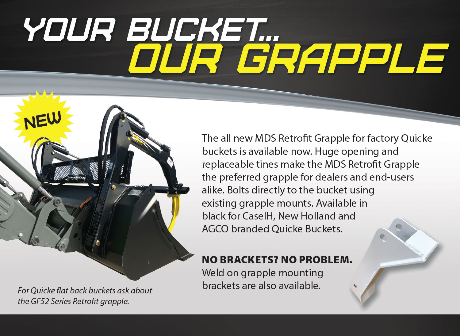 Quicke Bucket Grapple - MDS Manufacturing