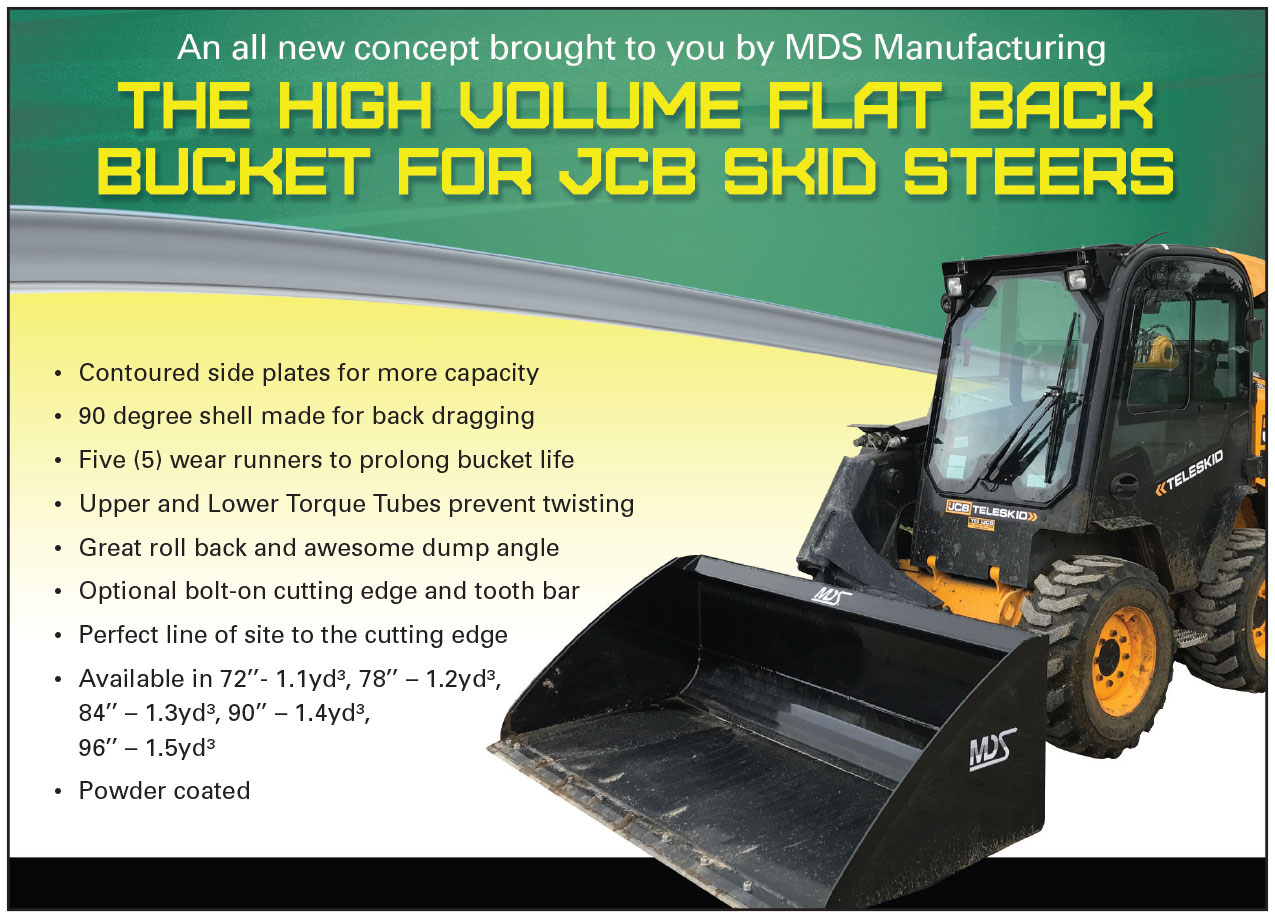 High Volume Flat Back Bucket