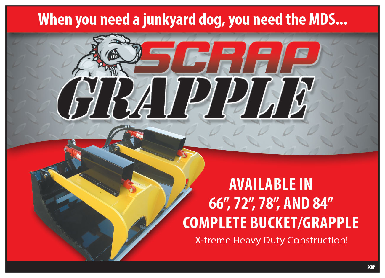 Tractor Buckets With Scrap Grapple - MDS Manufacturing