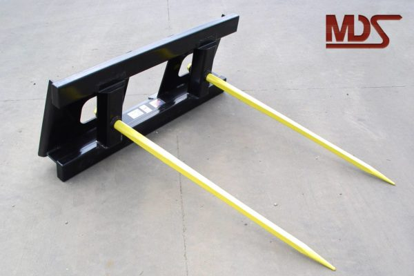 4400lb Universal Skid Steer Double Tine Bale Stabber
