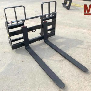 Universal Skid Steer Pallet Fork, Walk Thru, Cab Forward 4000lb