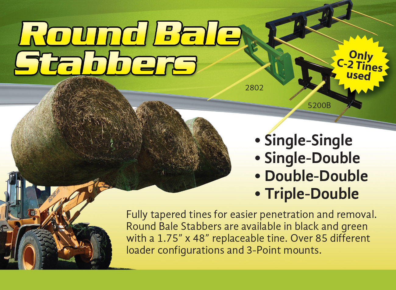 Round Bale Stabbers