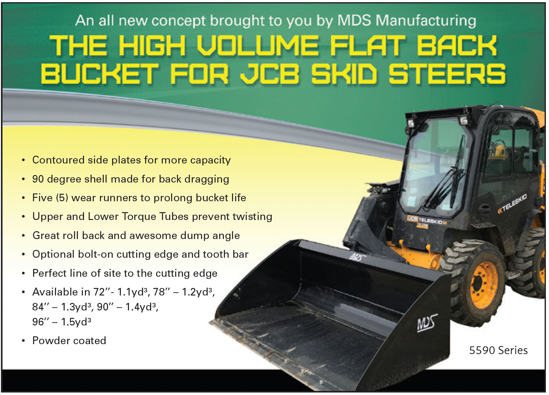 Buckets High Volume for Skid Steers and Track Loaders