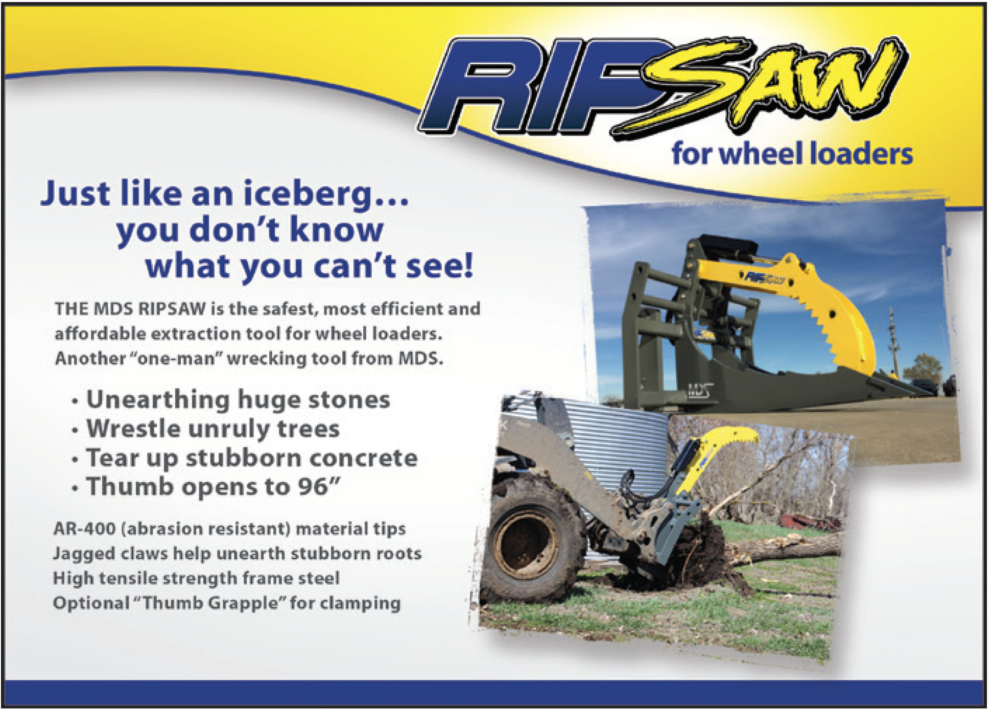 Rip Saw for Wheel Loaders
