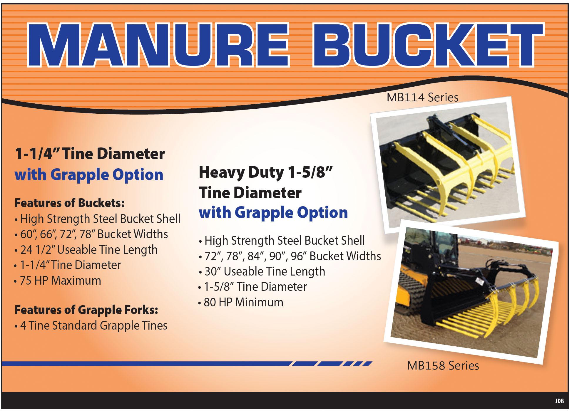 Manure Handling Buckets