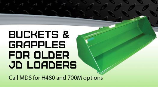 Buckets and Grapple for older JD loaders