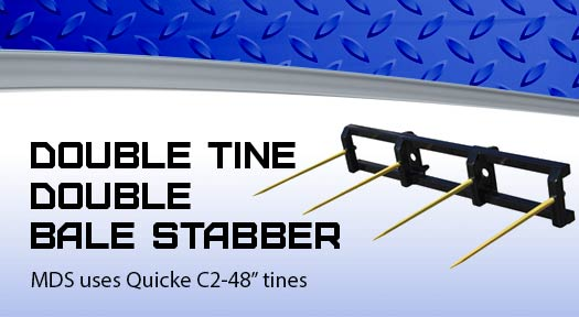 Double tine double bale stabber