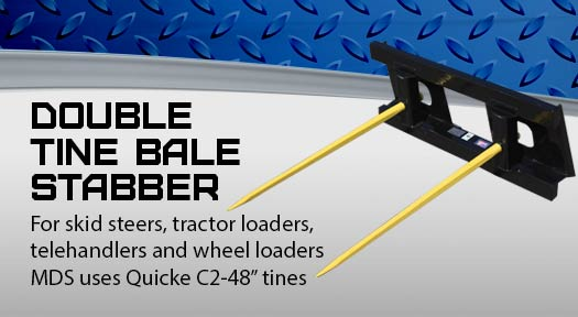 Double Tine Bale stabber