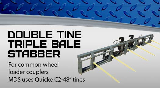 Double Tine Triple Bale stabber