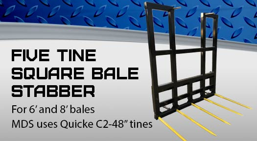 Five Tine Square Bale stabber