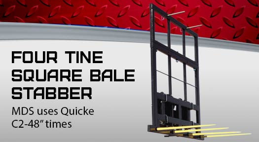 Four Tine Square Bale stabber