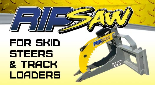 Rip saw for skid steers