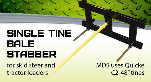 Single Tine Bale Stabber