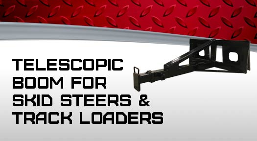 Telescopic boom for skid steers and track loaders
